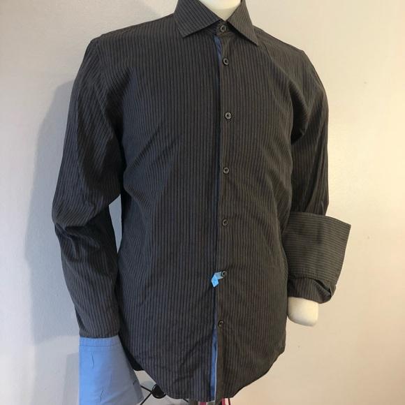 5b10d182 Boss Black Shirts | Mens Hugo Boss Brown Dress Shirt Size Xl | Poshmark